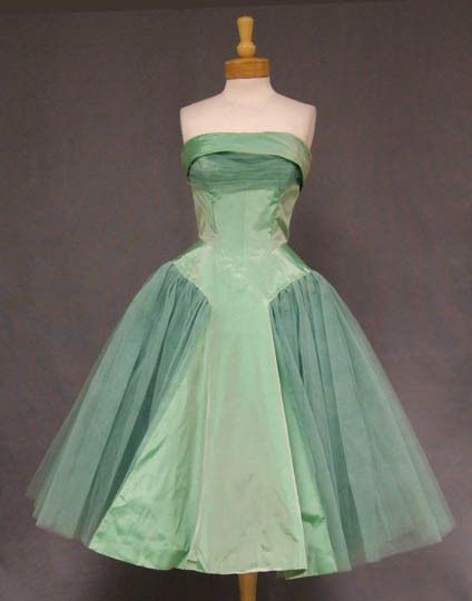 "Will Steinman Mint Taffeta & Tulle 1950's Prom Dress.  ""Will Steinman"" label."