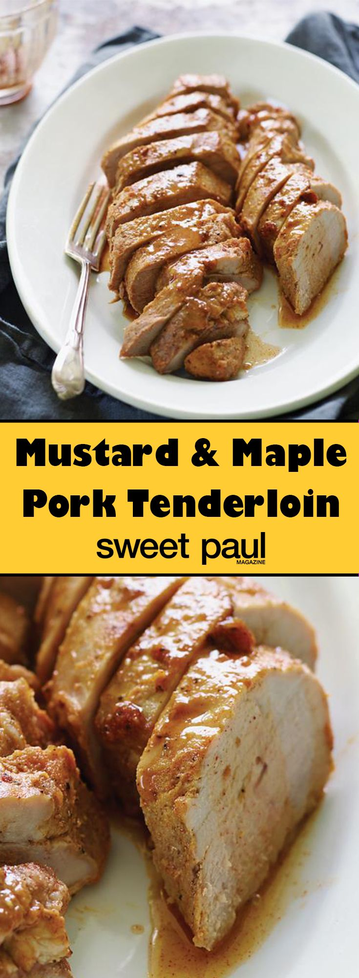 This delicious, slightly sweet and sticky pork tenderloin could not be simpler to make.