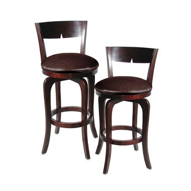 English Pub Stylized Wood Bar Stool Seating Chair N