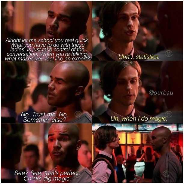 spencer reid smart quotes. this part was so nice of morgan, teaching reid how to talk girls! spencer smart quotes