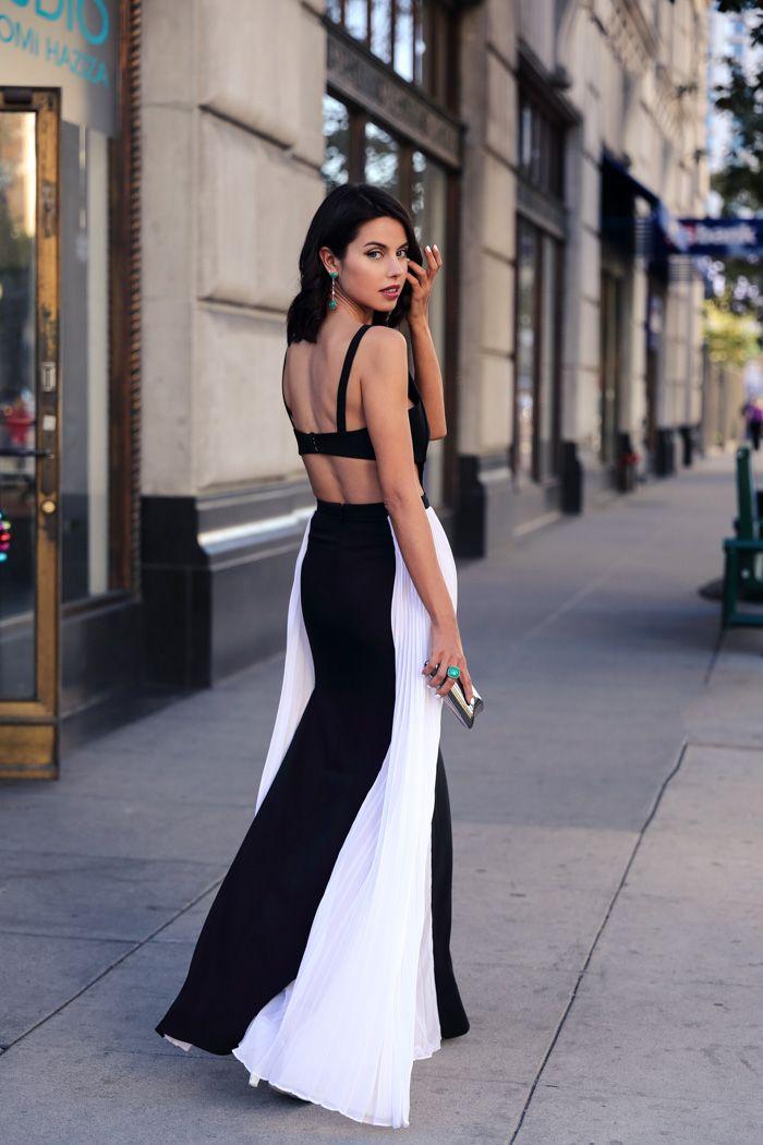 Viva Luxury - BCBG Black and White Dress