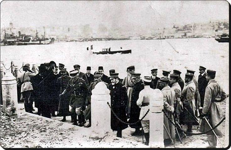 Fransız işgal ordusu komutanı General D'Esprey İstanbul'a ayak basarken - 8 Şubat 1919.