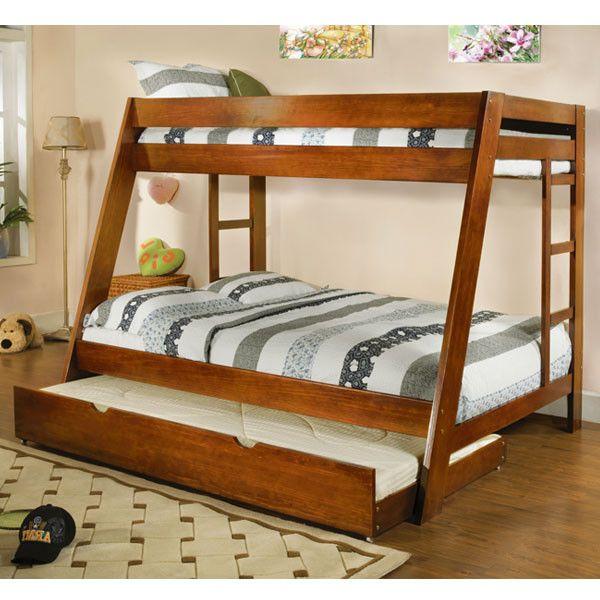 Arizona Cottage Style Twin Full Combo Size Bunk Bed Set