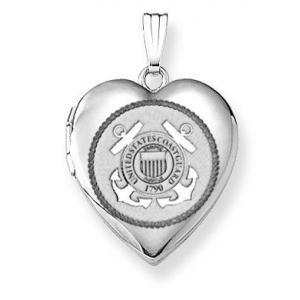 Sterling Silver Coast Guard Heart Locket - PG80248