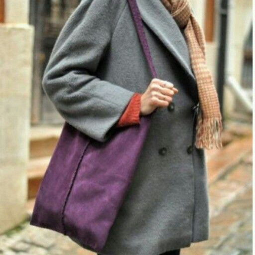 Purple handmade leatherbag