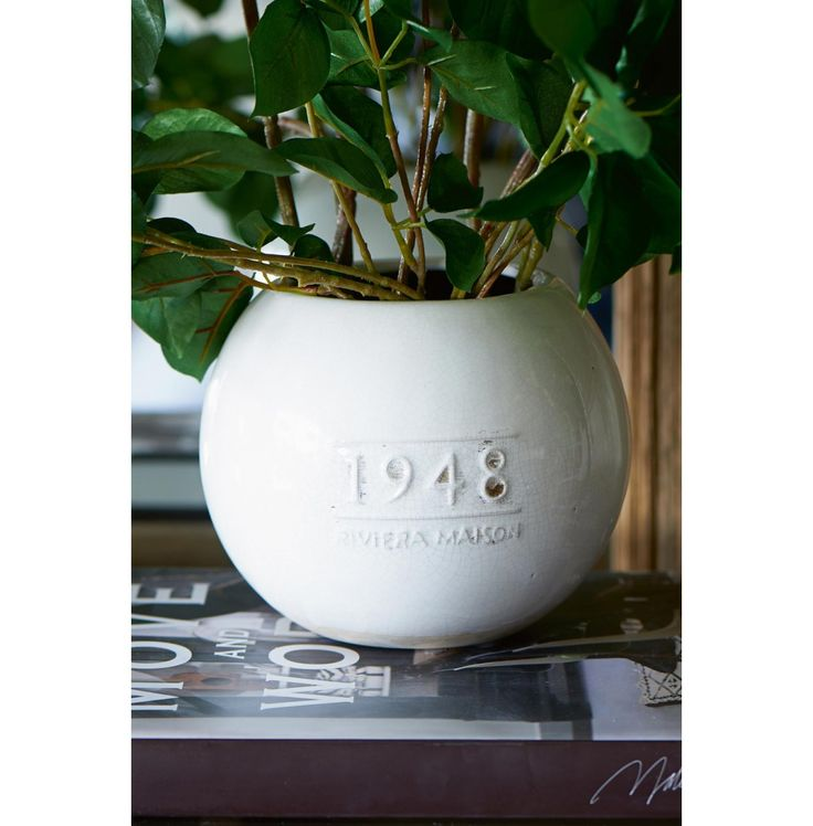 RM 1948 Vase Vintage white   Rivièra Maison