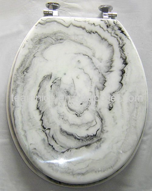 decorative resin toilet seat cover marble look toilet seats