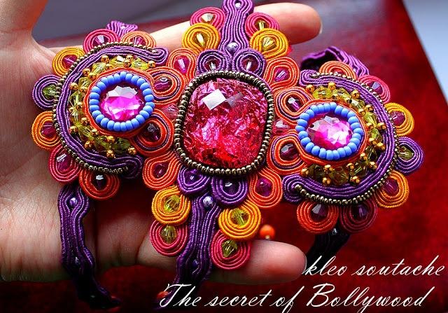 Bransoletka sutasz Bollywood | sutaszBeads Inspiration, Sutasz Bollywood, Soutache Beads, Beads Soutache, Soutache Jewelry, Bransoletka Sutasz, Soutache Jewellery, Beads Embroidery, Beads Work