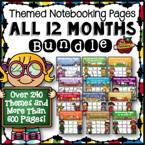 All 12 Months Notebooking Pages Bundle