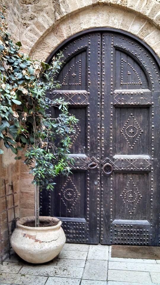 **The Joy of Life**  Door in old city of Jaffa, Israel  Trudy Macy, April 2014