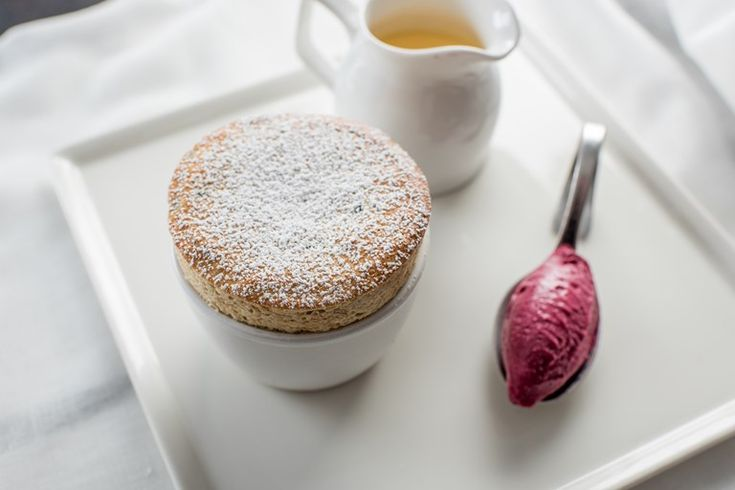 Graham Campbell's Christmas pudding soufflé recipe is infused with a brandy anglaise for a little extra Christmas spirit. Served with a tangy cranberry sorbet, this is a truly festive dessert for foodies.