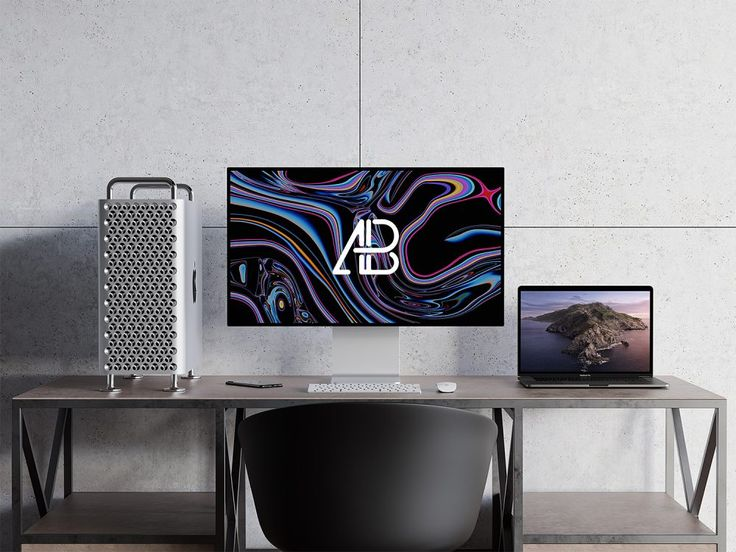 Photorealistic Mac Pro and MacBook Pro Mockup