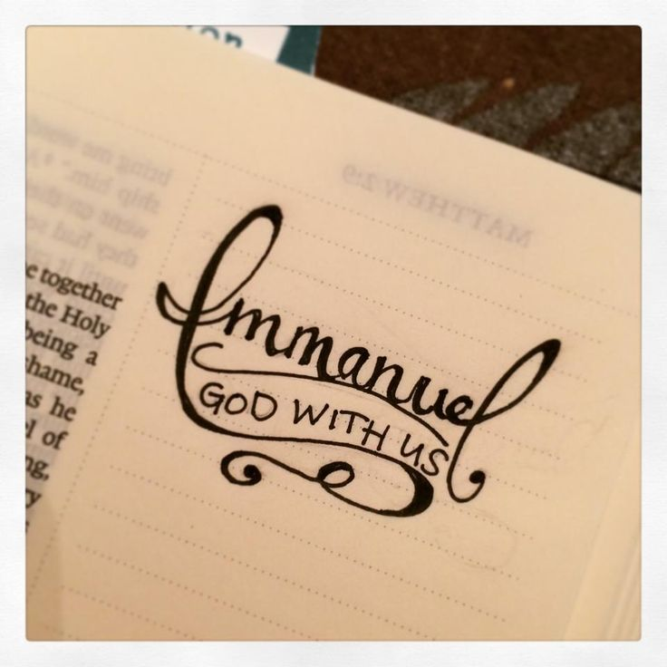 Christmas / Advent - Matthew 1 Immanuel God with us [credit to HR Conklin, FB]