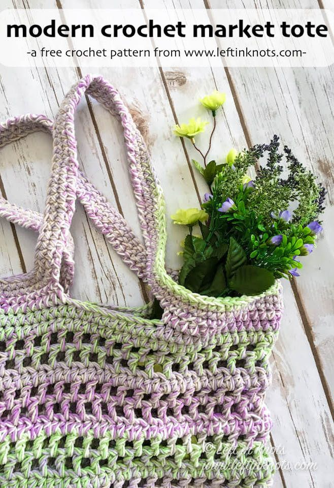 Lavender Fields Tote Bag Free Crochet Pattern Pinterest Modern