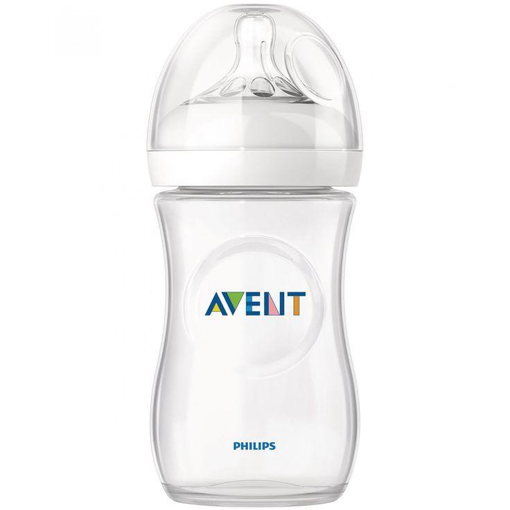 biberón Avent Natural de 260ml; con tetina ancha en forma de pecho exclusivos y cómodos pétalos para una suavidad extra tetina flexible fácil de usar y lavar; de ensamblaje rápido y sencillo.<br>Libre de BPA.