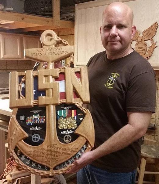 Fouled USN Chief Senior or Master Chief Anchor Shadow Box – K & W Projects LLC