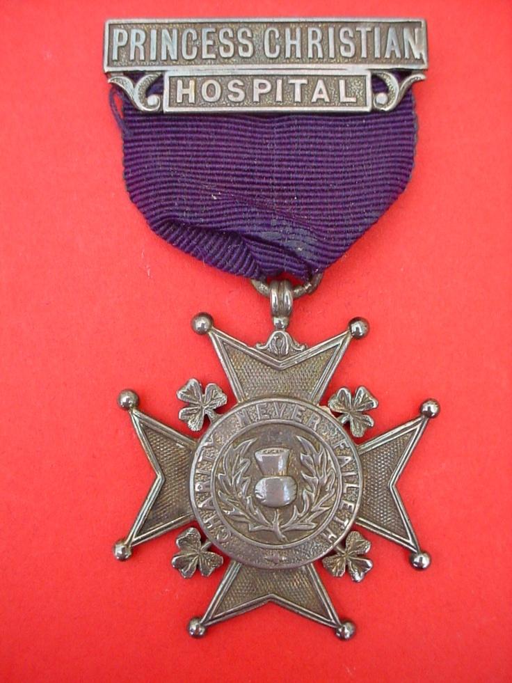 Nurses badge Princess Christian Hospital Weymouth