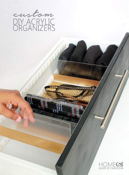 IHeart Organizing: UHeart Organizing: DIY Acrylic Drawer Dividers