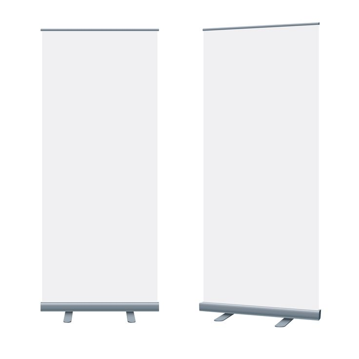 Pull Up Banners Mock Blank Packaging Templates
