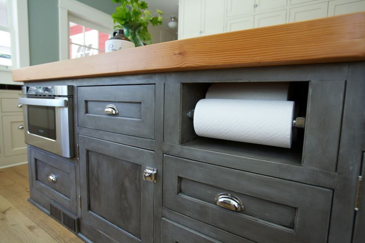 ideas for paper towel holder in kithen built in cabinet | ... farm-style charm with clever storage, decor ideas | OregonLive.com