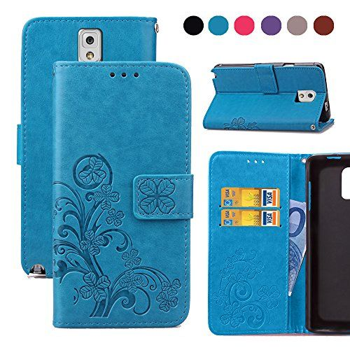 Note 3 Case,Wild Wolf [Stand Feature] Wallet Case Premium...