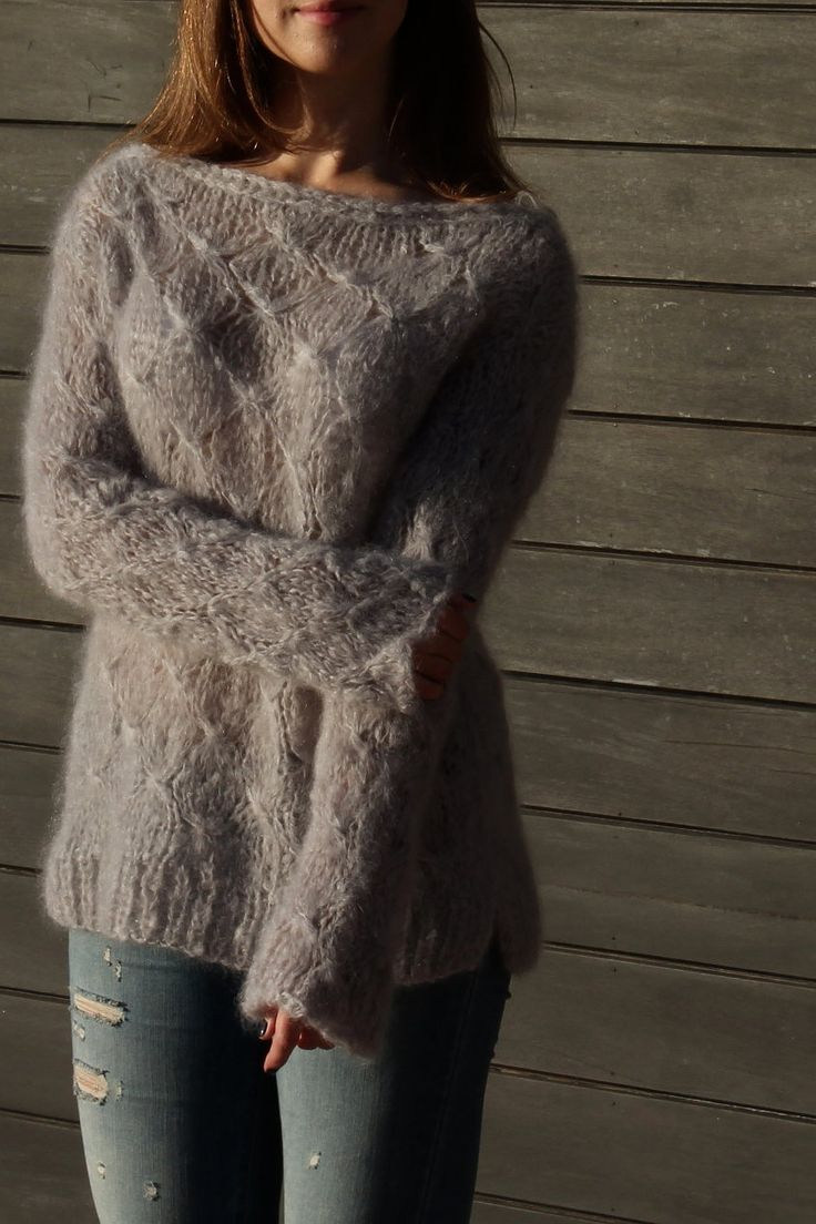 Textured mohair sweater pattern