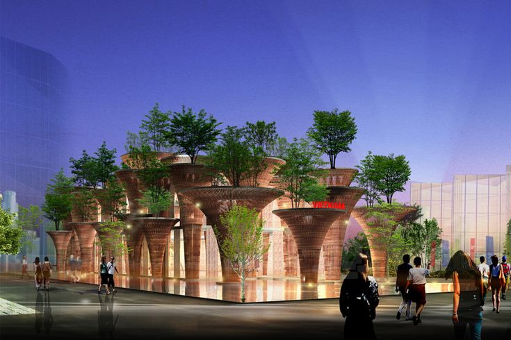 vietnamese pavilion for expo milan 2015 by vo trong nghia architects - designboom | architecture