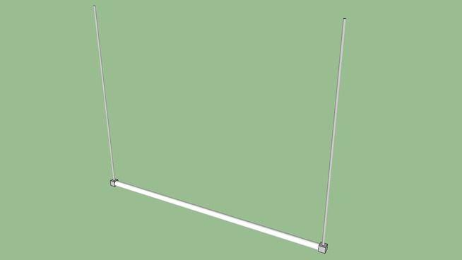 luminária tubular (flourescente) - 3D Warehouse