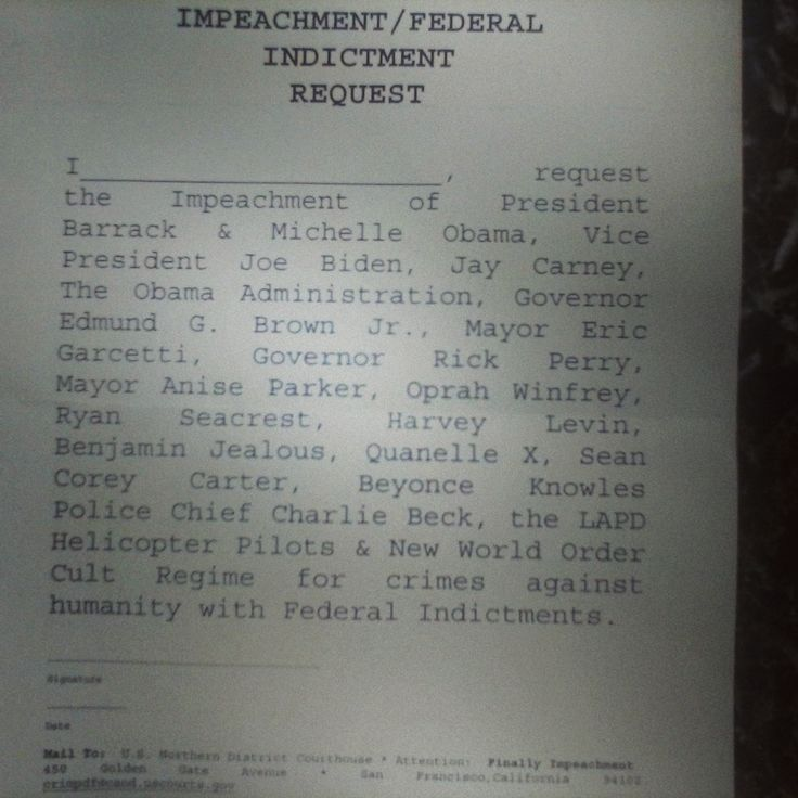 #The Obama Impeachment Request: {ADD DATE OF BIRTH} http://instagram.com/p/pObDGbqSE2/ #Save The World #Stop Obama's Los Angeles Drug Drops #The Guantanamo Bay Project #The Yellow Page Project (Fax) #Conversation Slips (Call) #Call Congress #Call 9Th Circuit Court LA #Call Los Angeles District Attorneys' Office #Call Wall Street Precinct Los Angeles #Call Republicans 2016 #Call Copy Cat Republicans #Call The Democrats 2016 #Impeach The Audacity Of Hope© #Documentation To Restructure #Call…