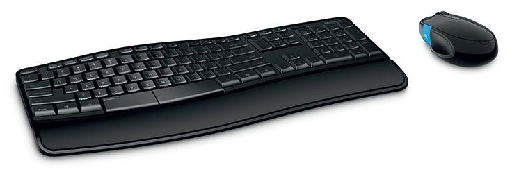 [CATALOGUE GÉNÉRAL 2015] Sculpt Comfort Desktop: L'ensemble confortable, productif et élégant. Design conçu pour favoriser une position naturelle des poignets. Bouton tactile Windows® sur la souris pour naviguer d'une application à l'autre. Connexion sans fil via nano-récepteur unique. Repose-poignet détachable, Technologie Bluetrack™, Touches média. Réf. L3V-00007. http://www.exertisbanquemagnetique.fr/info-marque/Microsoft #Microsoft #Clavier #Ordinateur