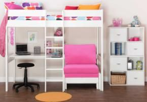 The awesome Stompa Kool #Bed with #Desk from #FurnitureVillage has space for sleepovers and homework.