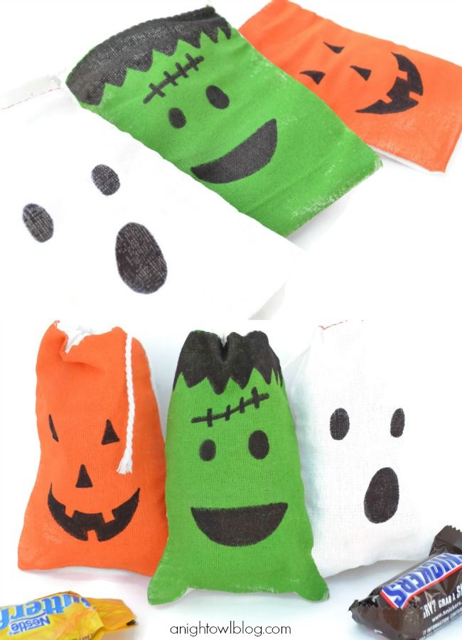 Halloween Favor Bags with Sharpies!