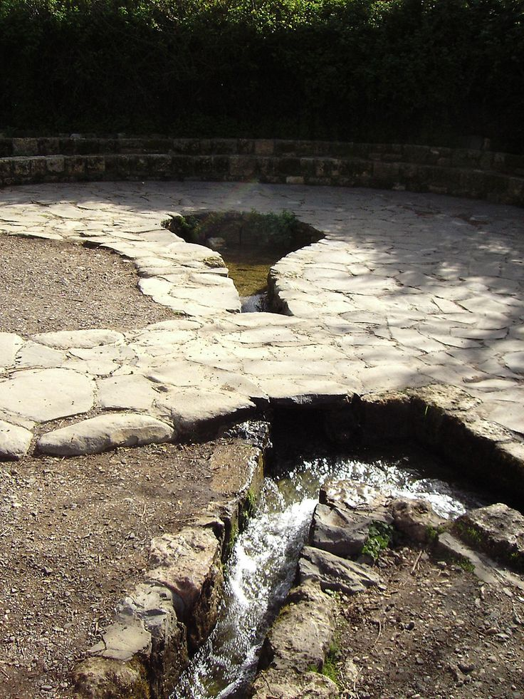 The spring on Mount Hermon. The spring is located at the foot of Mount Hermon, north of the Golan Heights, and constitutes one of the main sources of the Jordan River. (V)