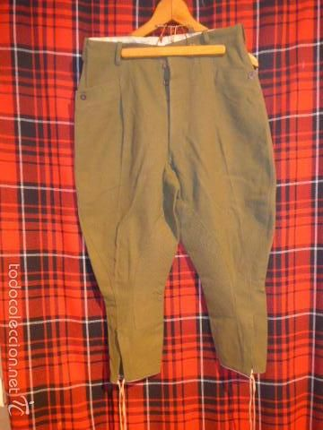 Antiguo raro pantalon breches republicano, pantalones de guerra civil - Foto 1