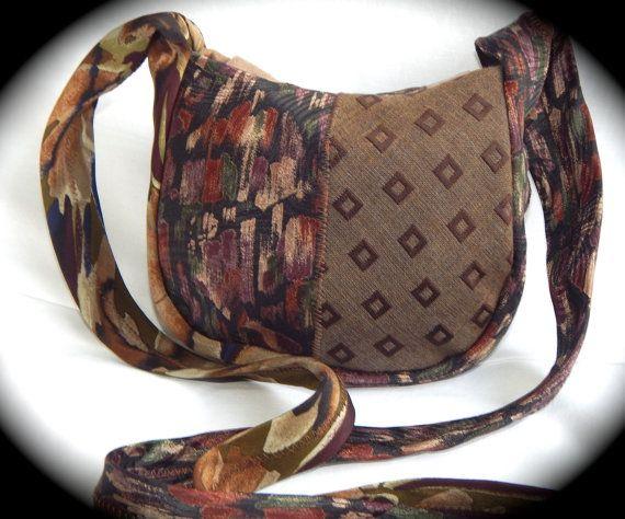 Necktie Purse Upcycled Necktie Cross body Bag Unique Gift