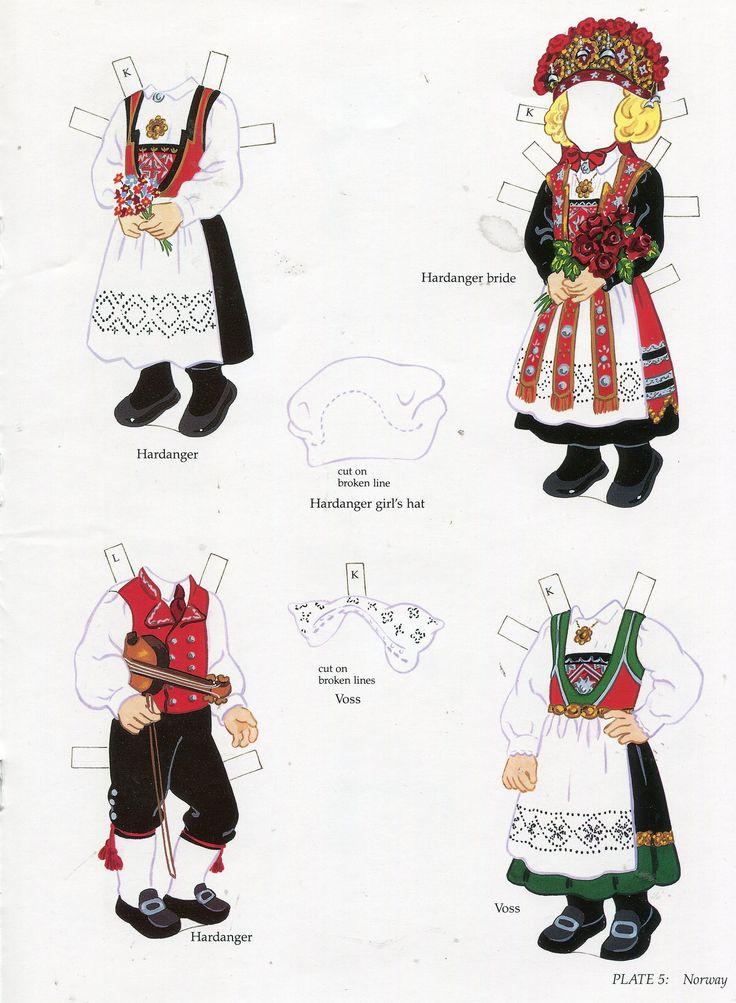 book - libro - scandinavian girl and boy - paper doll - norway (2)   by sonobugiardo