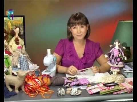 Шьём текстильную куклу в стиле Тильда. Мастер класс (ribbon flowers)