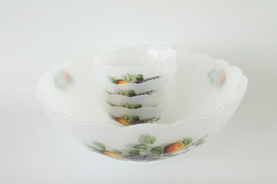 Vintage Arcopal France glass bowl set of 5 door Dutchvintagepicker