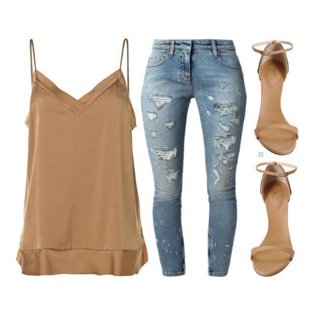By Malene Birger silk top ($285), Faith Connexion jeans ($705), Giuseppe Zanotti heels ($880) xx #Padgram
