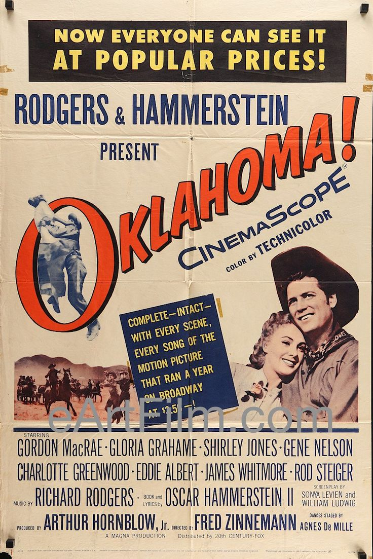Happy #InternationalDanceDay https://eartfilm.com/search?q=dance #dance #dancers #dancing #InternationalDanceDay2017 #choreographers #choreography #film #movies #cinema #posters #movieposters Oklahoma-Shirley Jones-Gordon MacRae-Oscar Hammerstein-27x41-1956