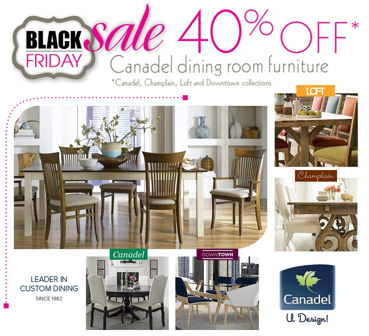 Black Friday Sale 40 Off Canadel Dining Room