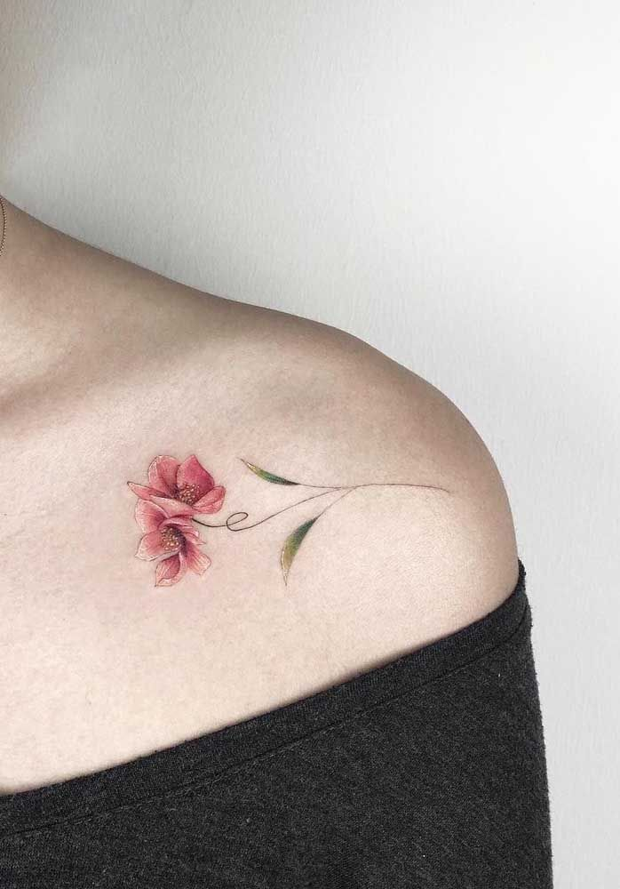 Tatuagem no ombro: 70 ideias com fotos, dicas e cuidados | Tatuagem, Tatuagem mulher, Tatuagem delicada