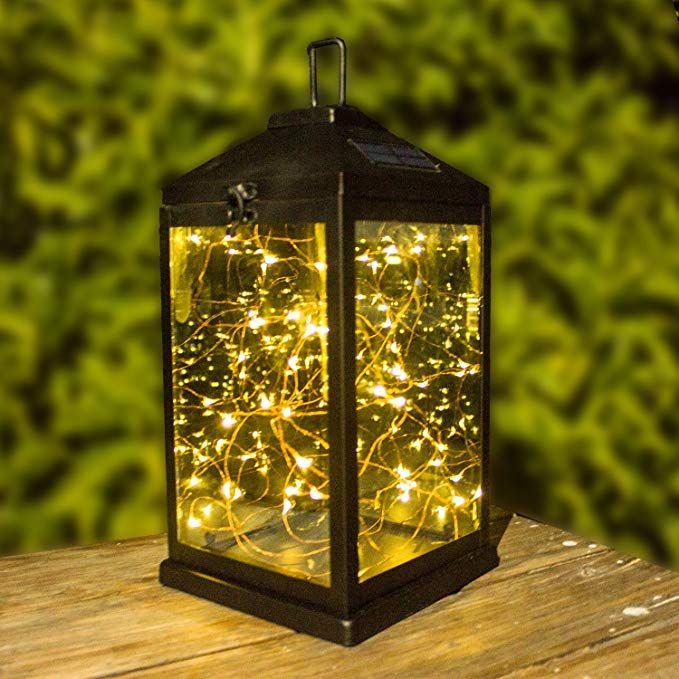 Solar Lantern Outdoor Hanging Sunwind Decorative Lanterns Metal