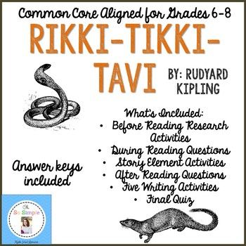 Rikki Tikki Tavi Reading Guide Writing Activities And Quiz
