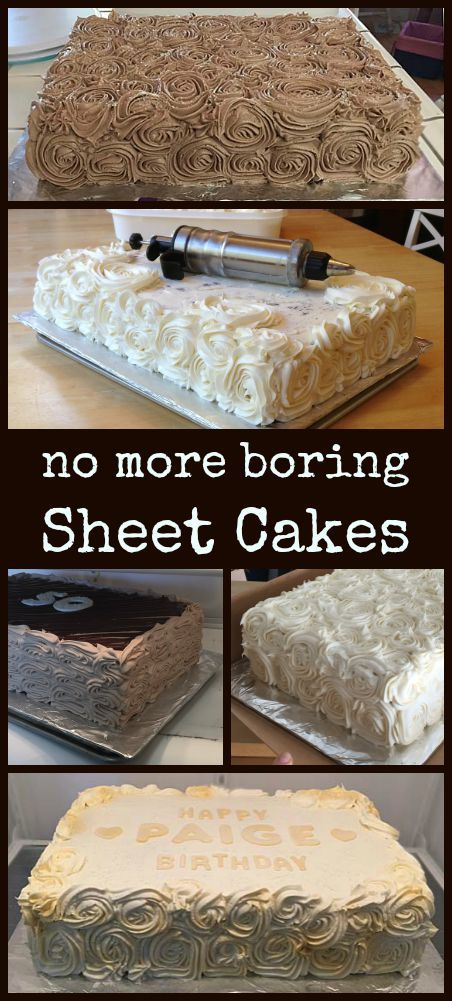 Easy decorating technique for beautiful cakes.