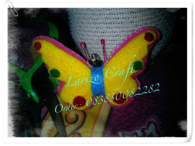 Kupu-kupu butterfly #flanel#felt#handmade