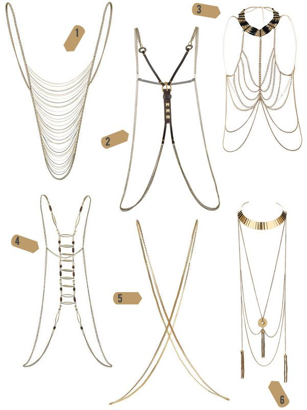 body necklaces/ body chains