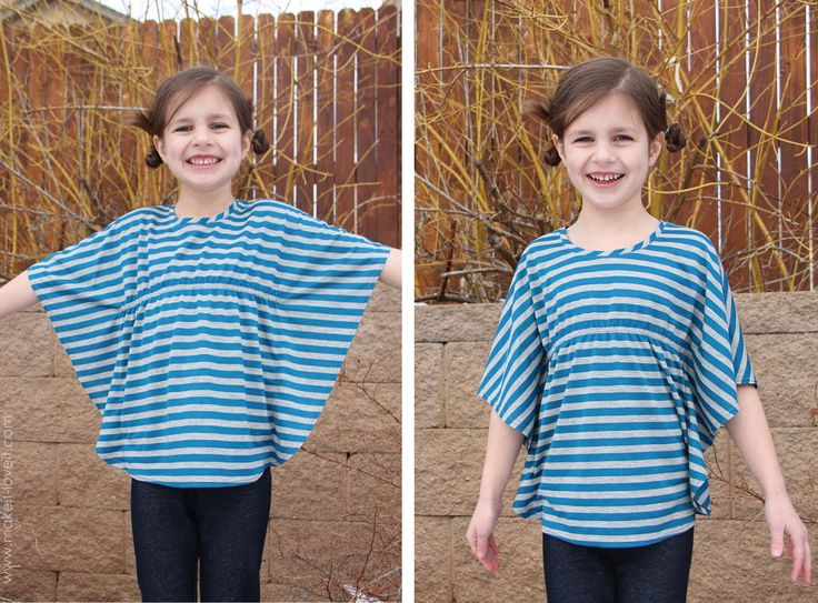 butterfly tunic shirt (for girls or women) - http://www.makeit-loveit.com/2013/01/butterfly-sleeve-tunic-a-top-for-women-and-girls.html
