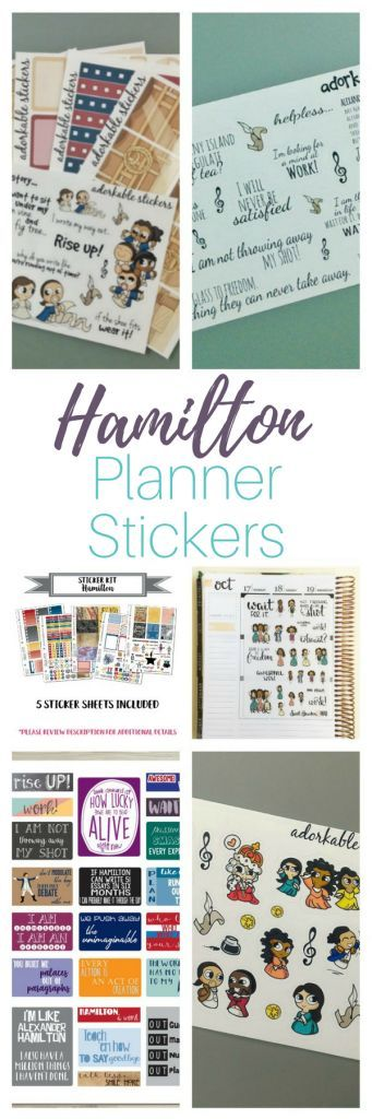 Hamilton Planner Stickers - We've got the cutest roundup of Hamilton themed planner stickers. Whether you are an Erin Condren girl or if Bullet Journaling is more your style - there's something for everyone here.