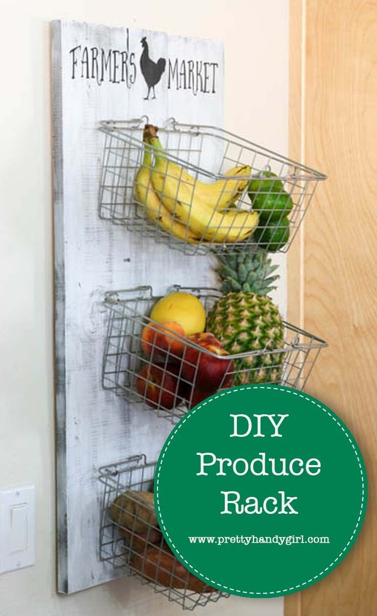 Diy Produce Rack With Images